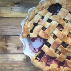 Peach Blueberry Bourbon Pie