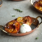 Maple and Thyme Roasted Peaches
